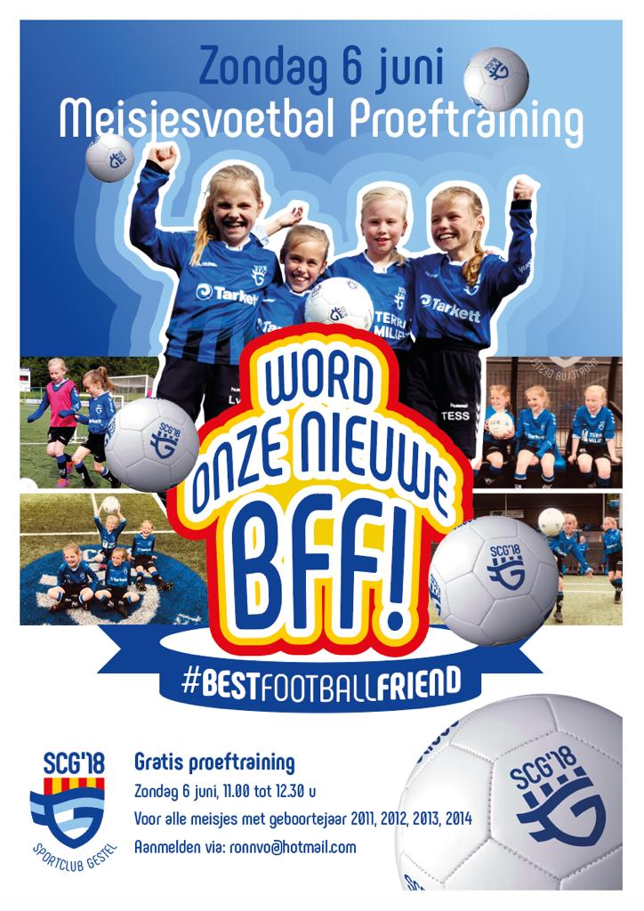 Meisjesvoetbal - Vriendinnendag zondag 6 juni
